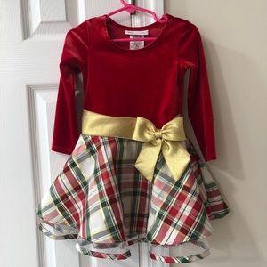 Bonnie Jean holiday dress 2/2T